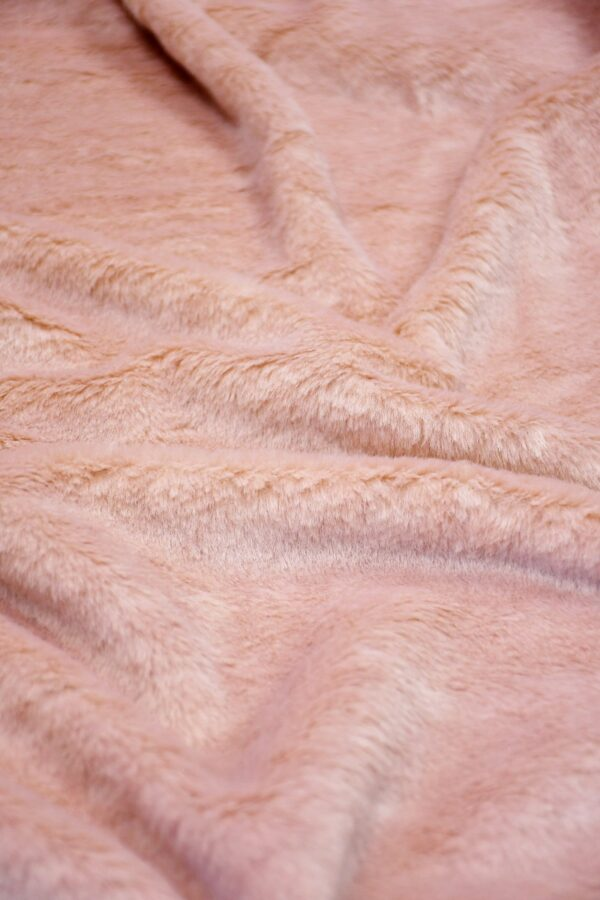 мех на трикотаже розовый