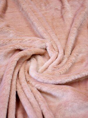 Мех искусственный на трикотаже розовый (10585) - Фото 13