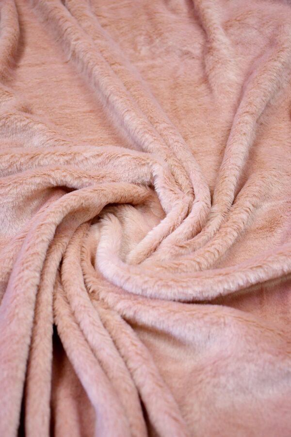 Мех искусственный на трикотаже розовый (10585) - Фото 7