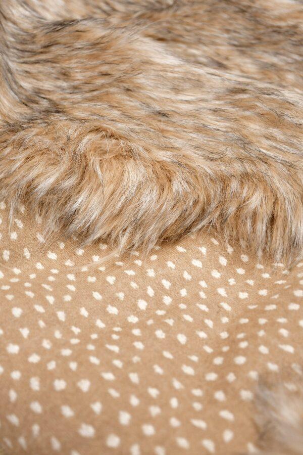 Мех искусственный енот оранжевый палевый (10587) - Фото 8