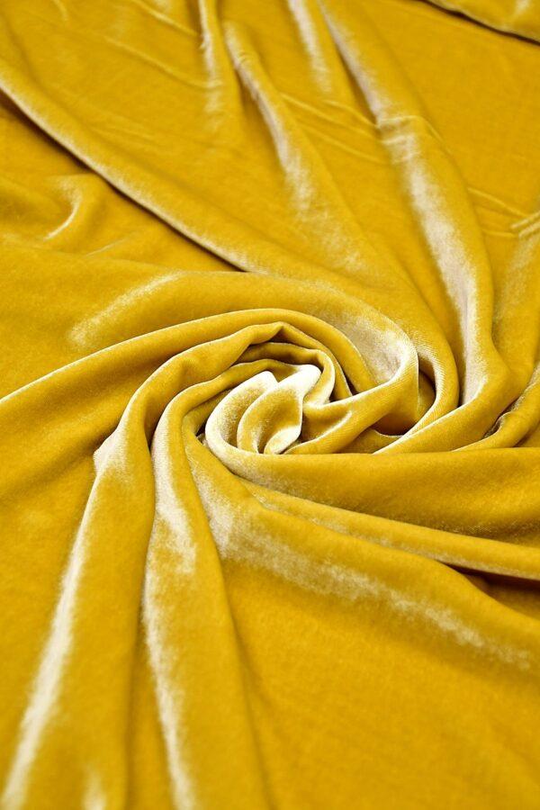 Бархат шелковый золотой (10591) - Фото 7