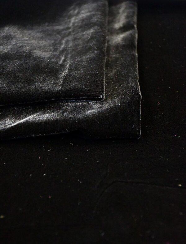Бархат шелковый черный (10592) - Фото 9