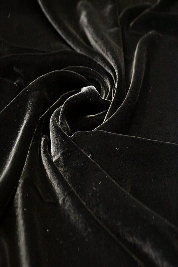 Бархат шелковый черный (10592) - Фото 7