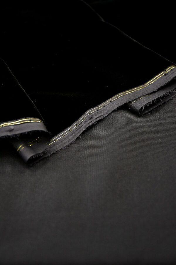 Бархат шелковый черный (10592) - Фото 8