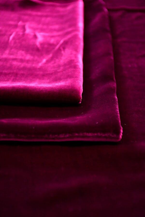 Бархат шелковый винный (10593) - Фото 9