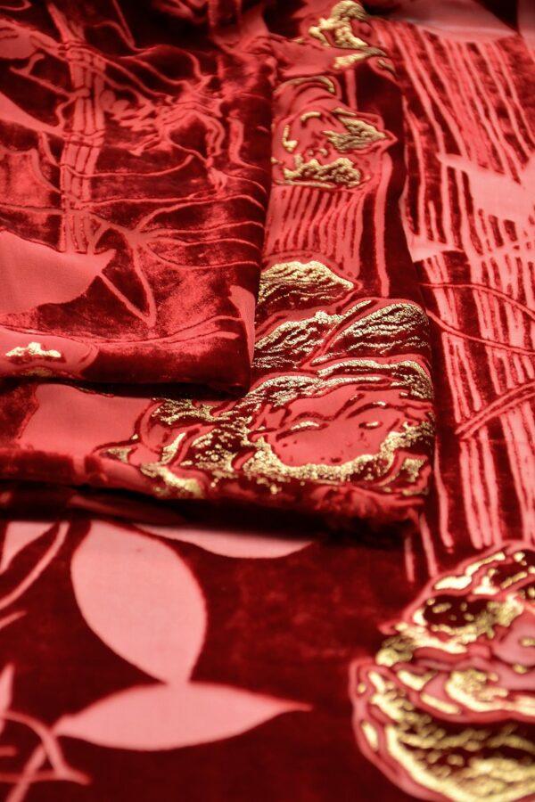 панбархат италия красный розы