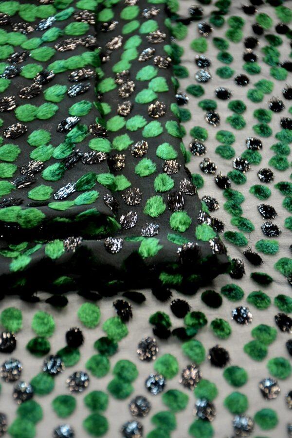 Бархат Деворе зеленый горох (10599) - Фото 8