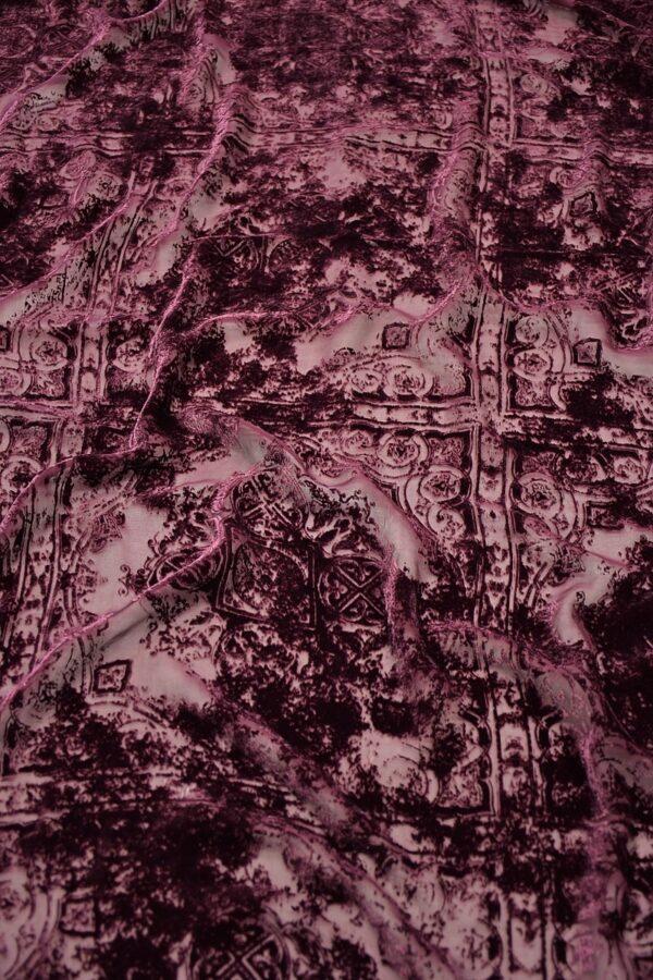 Панбархат темно-лиловый майолика (10600) - Фото 6