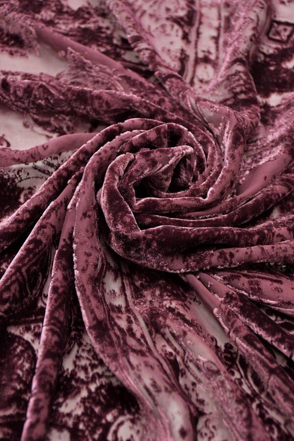 Панбархат темно-лиловый майолика (10600) - Фото 7