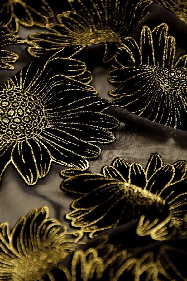 Панбархат черный цветы
