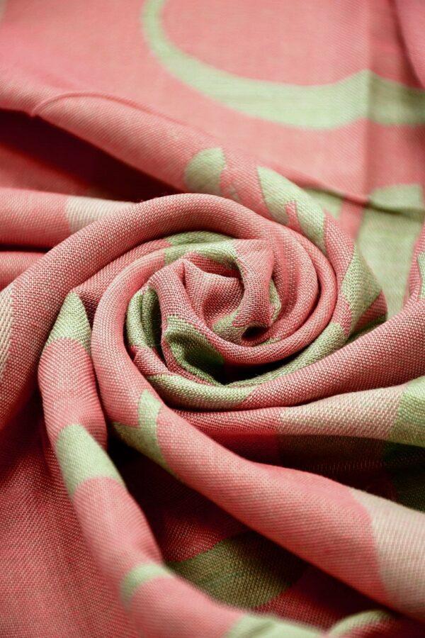Платок палантин кашемир мятно-красный