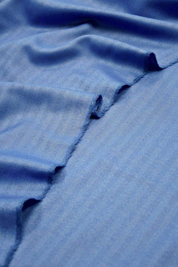 Шерсть с шелком королевский голубой в полоску и рубчик