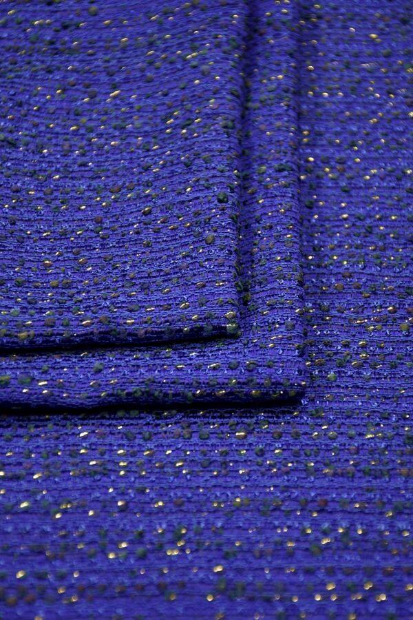 Шанель шерсть синий электрик