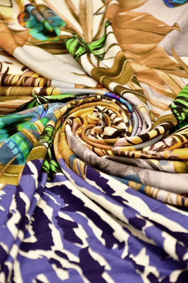 Трикотаж купон сафари анималистичный орнамент