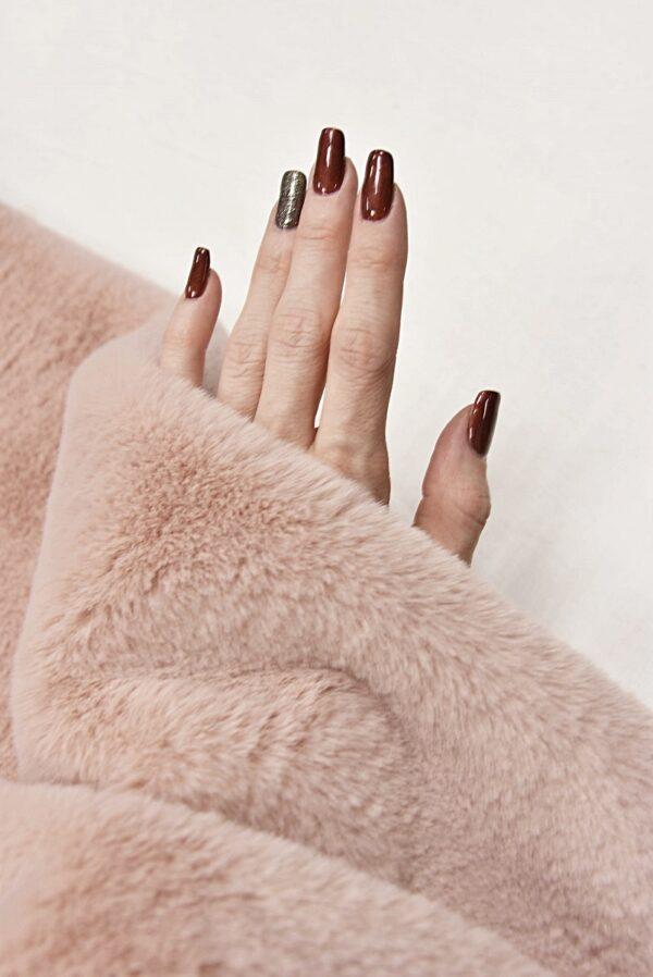 Мех искусственный мутон розовый (10584) - Фото 9