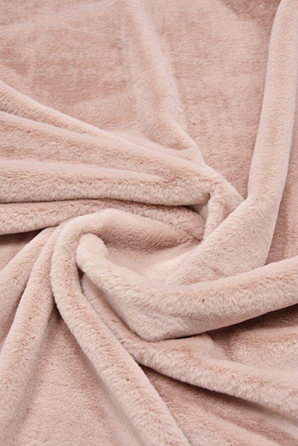 мех мутон розовый