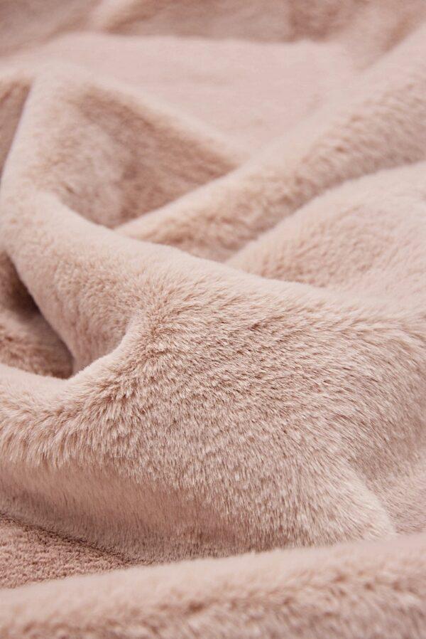 Мех искусственный мутон розовый (10584) - Фото 8