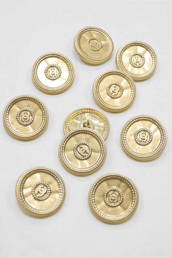 Пуговицы золотистый металл чеканка 22 мм (p0922) к20 - Фото 7