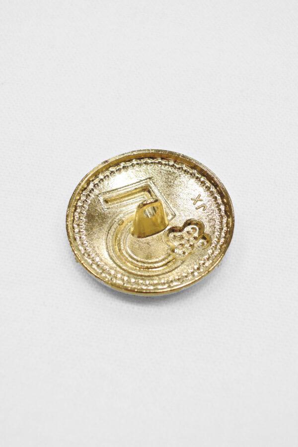 пуговица золото цифра 5
