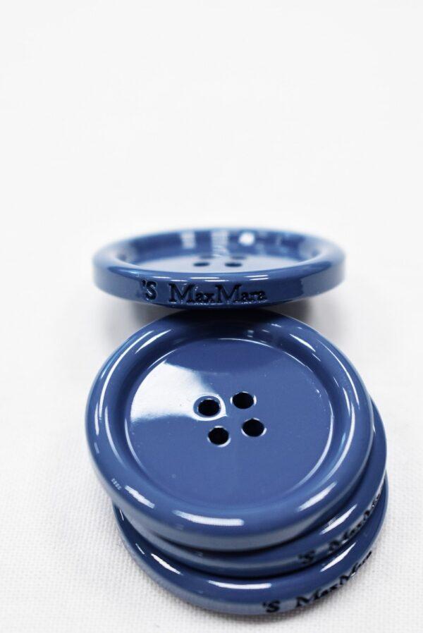 Пуговица пальтовая голубая четыре прокола 34мм (p0938) к5 - Фото 8