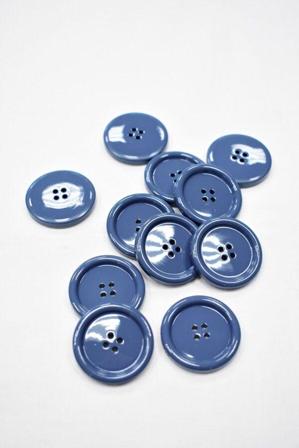 Пуговица пальтовая голубая четыре прокола 34мм (p0938) к5 - Фото 10