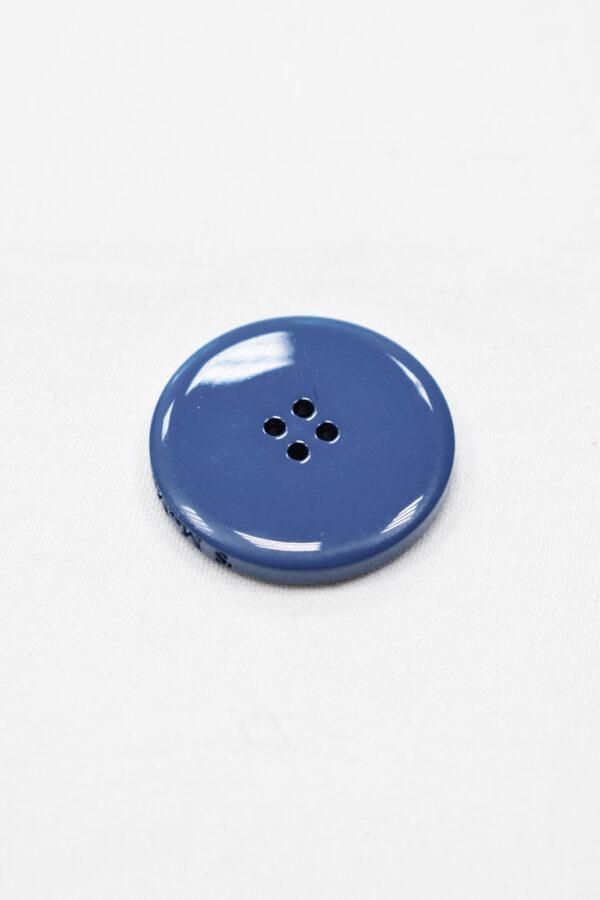 Пуговица пальтовая голубая четыре прокола 34мм (p0938) к5 - Фото 7