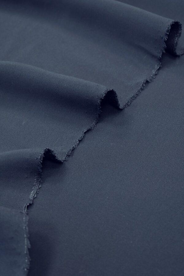 Дабл-креп припыленный темно-синий