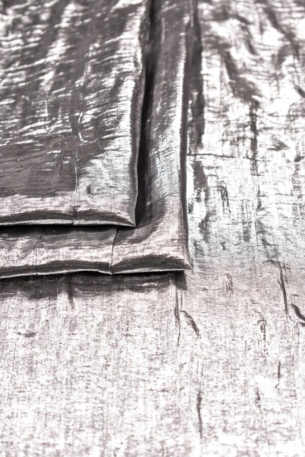 Органза двухслойная серебристая зеркальная