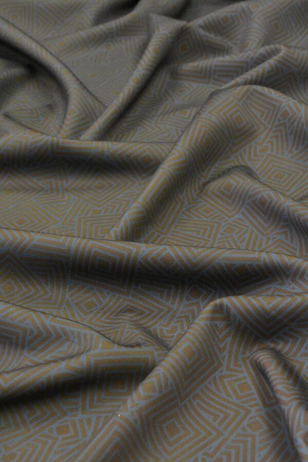 Джерси двухсторонний золотистый серо-голубой