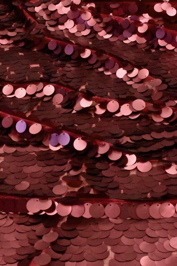 Пайетки крупные матовые рубиново-красный