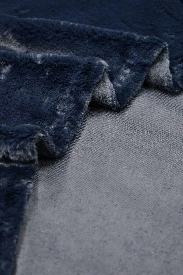 Искусственный мех кролик темно-синий