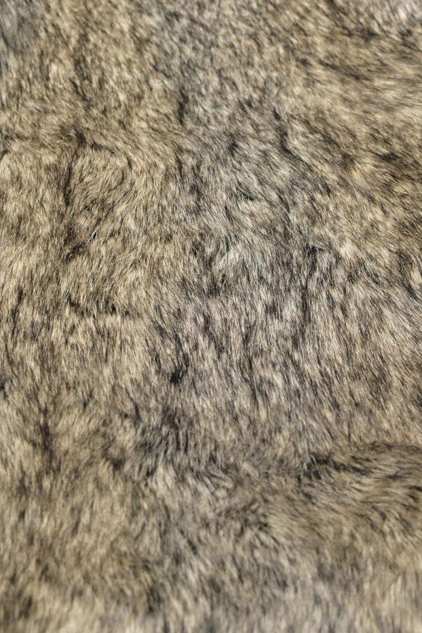 Мех искусственный енот бежевый