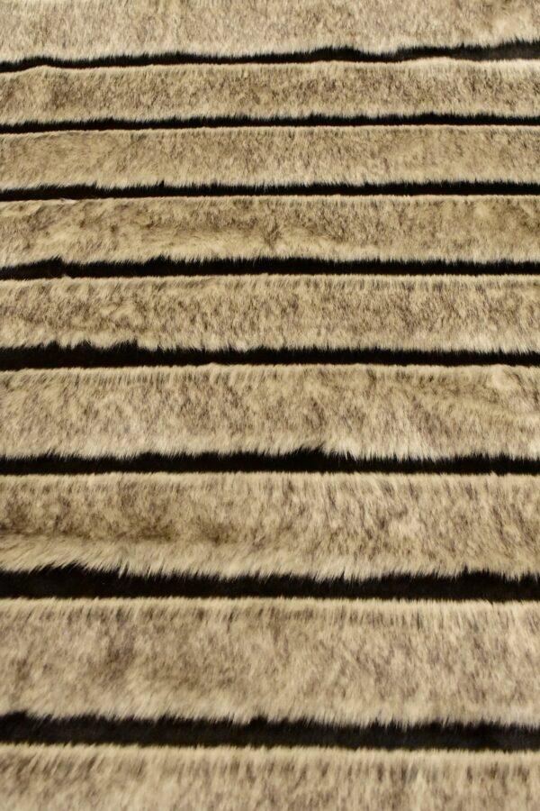Мех искусственный стриженый соболь бежевый с подпалинами