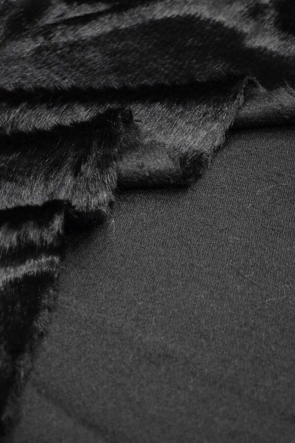 Мех искусственный норка стриженный черный бриллиант