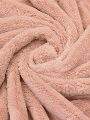 мех кролик розовый