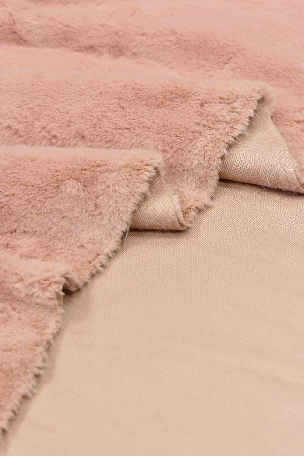 Мех искусственный кролик розовый (10677) - Фото 9