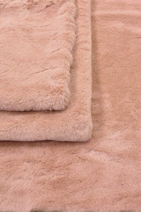 Мех искусственный кролик розовый (10677) - Фото 8