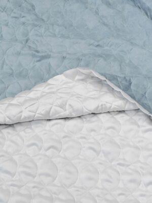 Курточная стежка двухсторонняя искусственная замша белый голубой