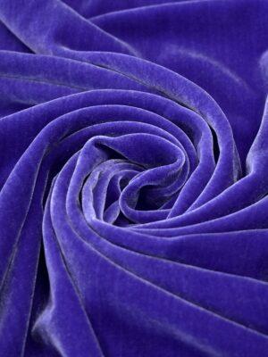 Бархат шелковый дымчатый синий