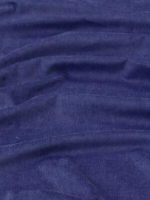 Микровельвет хлопковый сине-фиолетовый