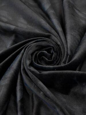 Бархат хлопковый черный узор