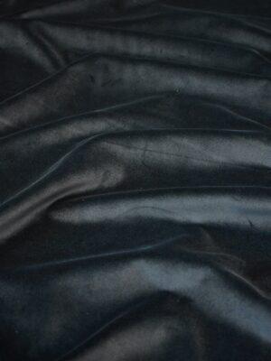 Бархат хлопковый дымчато-черный