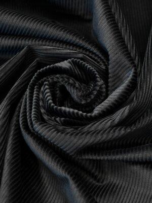Вельвет глубокий черный