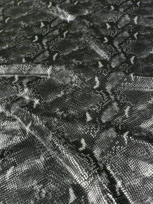 Искусственная кожа лаке серый рептилия
