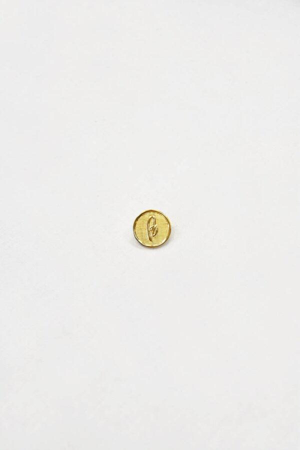 Пуговица маленькая металл золото на ножке (p0830) 1