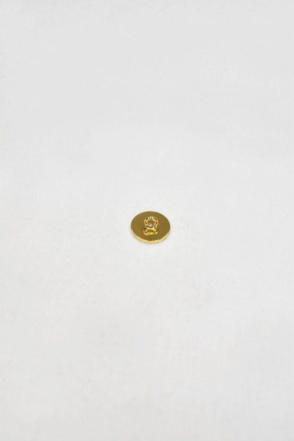 Пуговица маленькая металл золото на ножке (p0830) 2