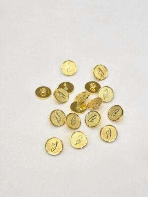Пуговица маленькая металл золото на ножке (p0830)