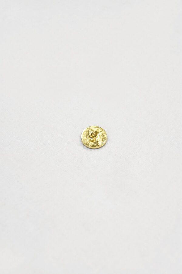 Пуговица металл золото эмаль винный (p0835) 1
