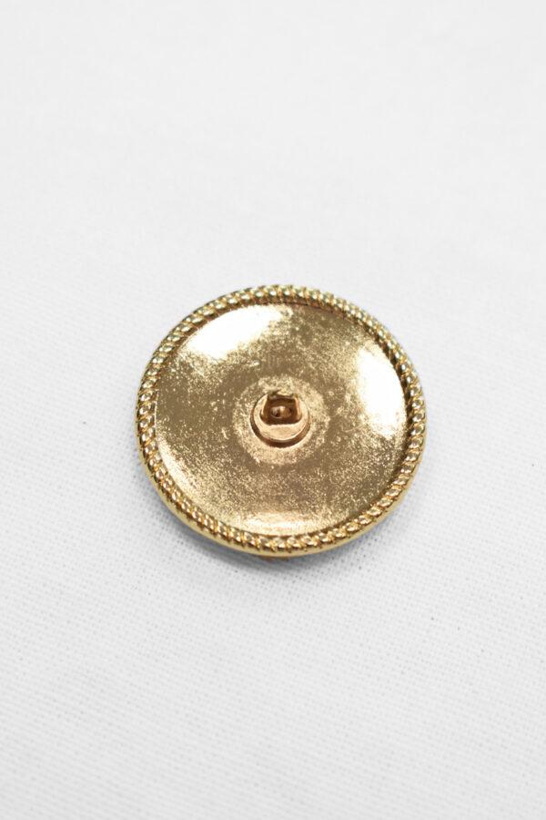 Пуговица металл золото фиолетовая эмалью (p0904) 1