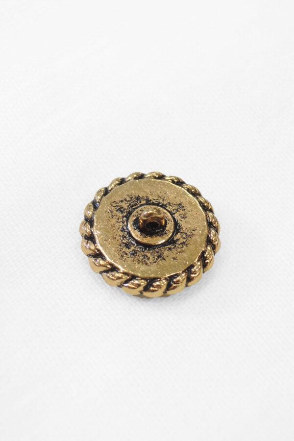 Пуговица темное золото с белой эмалью (р0924) 1